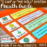 I Can Statements Fourth Grade TEKS System BUNDLE {All Four