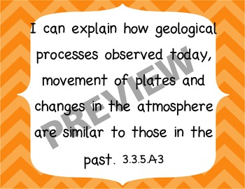 I Can Statements Gr 5 Earth Science