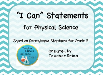 I Can Statements Gr 5 Physical Science