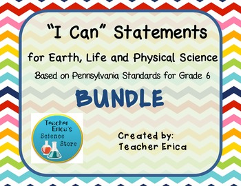 I Can Statements Gr 6- Bundle