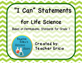 I Can Statements Gr 7 Life Science
