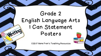 I Can Statements - Grade 2 English Language Arts