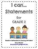 I Can Statements Grade 2 Saskatchewan