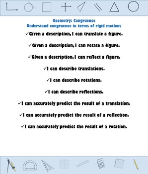 """I Can"" Statements - High School Geometry CCSS Posters"
