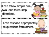 Preschool I Can Statements Illinois