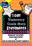 I Can Statements: Individual Numeracy Goals for Students *Editable Version