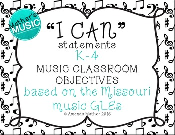 I Can Statements - K-4 Bundle - Music Note