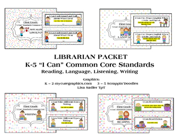 I Can Statements K-5 ELA Common Core