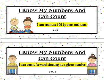 I Can Statements K-5 MATH ONLY Common Core