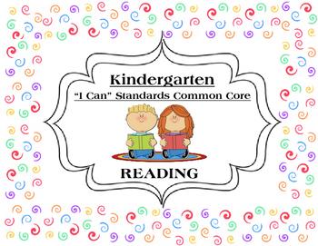 I Can Statements KINDERGARTEN Common Core