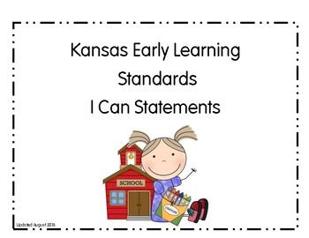 I Can Statements Kansas Preschool