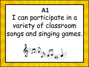 I Can Statements Kindergarten Music British Columbia Curriculum