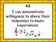 I Can Statements Kindergarten Music British Columbia Curriculum