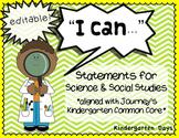 I Can Statements Kindergarten Science & Social Studies