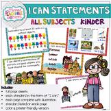 Kindergarten TEKS I Can Statements Bundle All Subjects