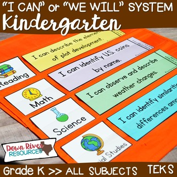 I Can Statements Kindergarten TEKS System {All Kindergarten Standards}