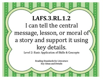 I Can Statements LAFS Grade 3