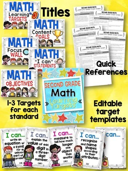 I Can Statements -- Learning Targets for Second Grade MATH