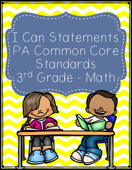 I Can Statements List - PA Common Core Third Grade - Math