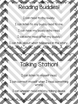 I Can Statements - Literacy Stations