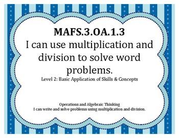 I Can Statements MAFS Grade 3