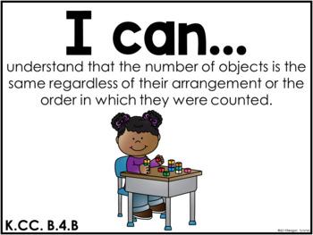 I Can Statements Math CCSS edition Kindergarten