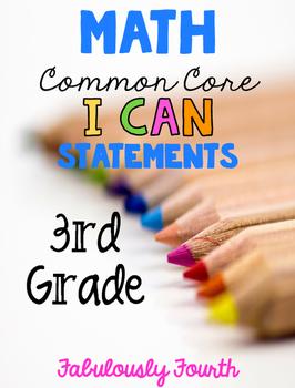 I Can Statements Math Grade 3