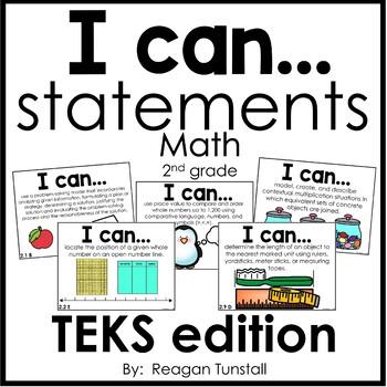 I Can Statements Math TEKS edition Second Grade