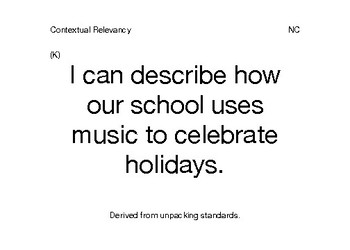 I Can Statements Music Contextual Relevancy