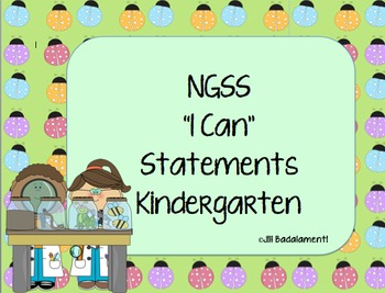 I Can Statements NGSS