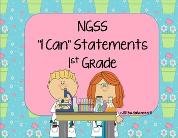 I Can Statements NGSS 1st Grade