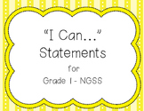 I Can Statements NGSS Grade 1