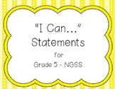 I Can Statements NGSS Grade 5