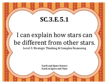 I Can Statements NGSS Science Grade 3