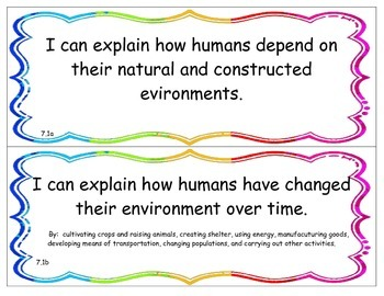 I Can Statements - NY K - 4 Science - Living Environment Performance Indicator 7
