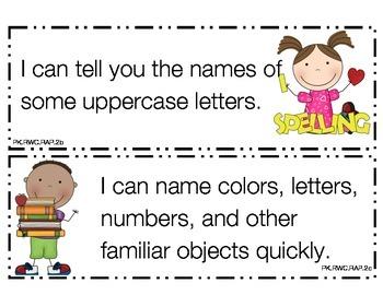 Preschool I Can Statements Colorado