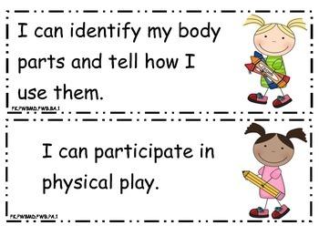 Preschool I Can Statements Ohio Part 2