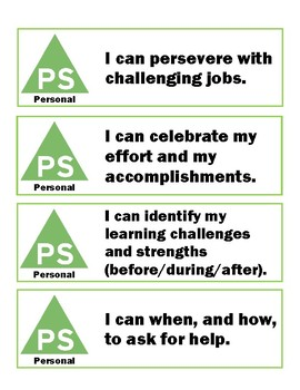 I Can Statements - Personal Awareness / Social Responsibility