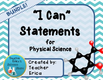 I Can Statements Physical Science- BUNDLE