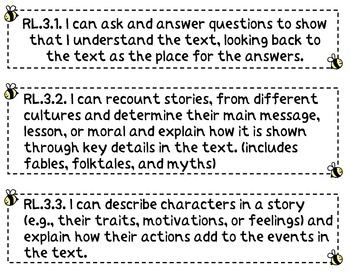 I Can Statements Posters: Common Core Standards for Language Arts & Math Grade 3
