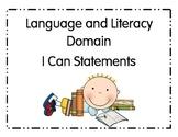 I Can Statements Pre-School Literacy and Language Arts Ohio
