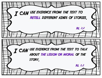 I Can Statements - Reading Standards for Literature Grade 3