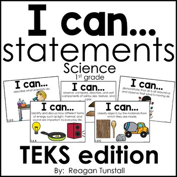 I Can Statements Science TEKS edition First Grade