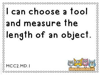 I Can Statements Second Grade Common Core Lang Arts and Math Doodle Border