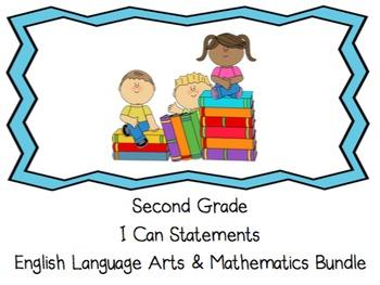 I Can Statements - Second Grade - ELA & Math Bundle