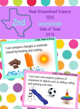 Second Grade New Science Streamlined TEKS- I Can Statements
