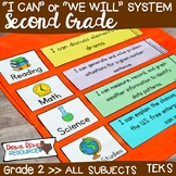 I Can Statements Second Grade TEKS System BUNDLE {All Seco