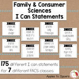 I Can Statements- Standards for FACS Classes