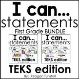 I Can Statements TEKS Bundle First Grade