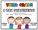 I Can Statements THIRD GRADE Common Core
